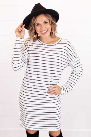 sku16954 | Striped Drop Shoulder Dress