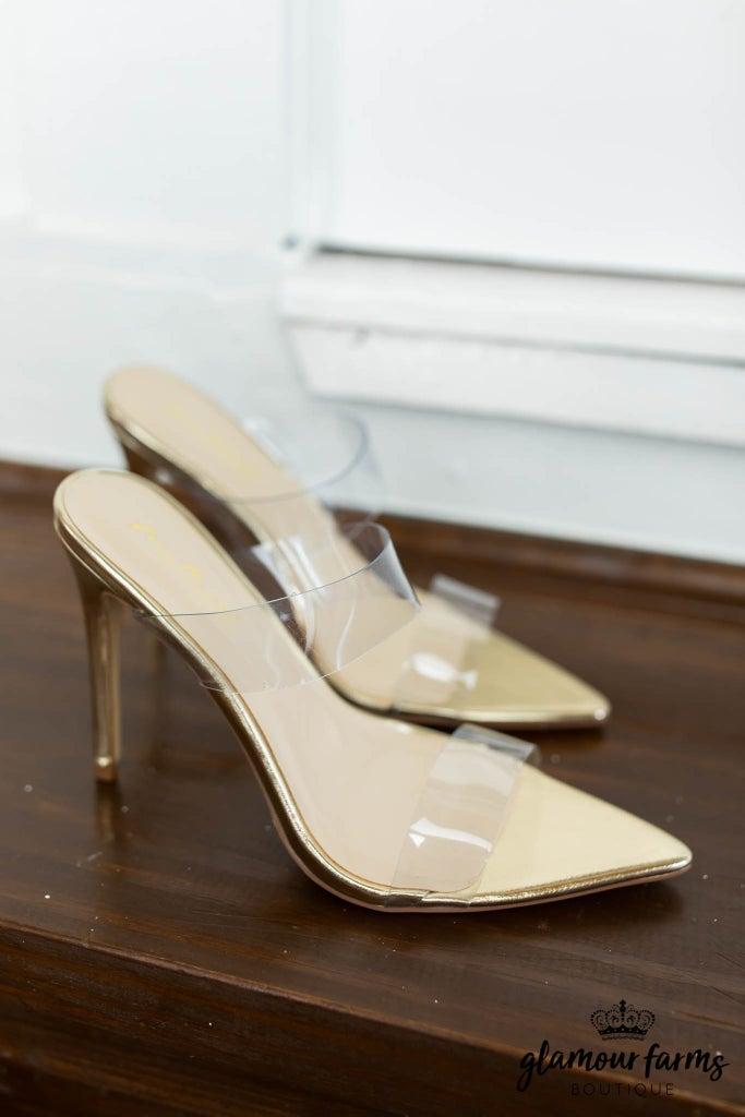 sku12814   Clear Backless Heels