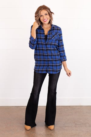 sku16234 | **Daily Deal** Plaid Button Up Tunic
