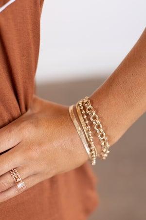 sku15789 | Five Row Multi Chain Bracelet