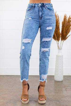 sku15258 | Dream Destroyed High Rise Jean