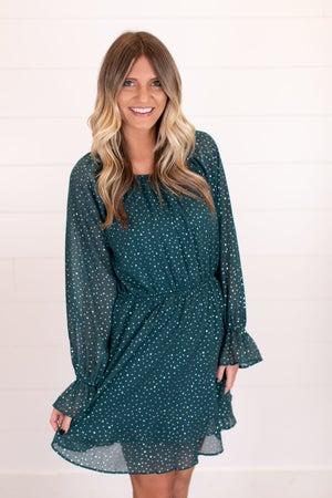 sku16893 | Ditzy Star Print Dress