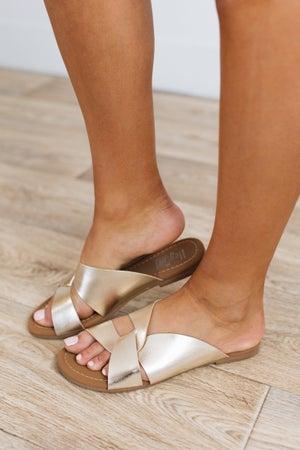 sku19273   Scuba Criss-Cross Slide Sandal