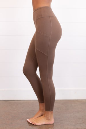 sku16283 | **Daily Deal** Brushed Knit Ankle Leggings