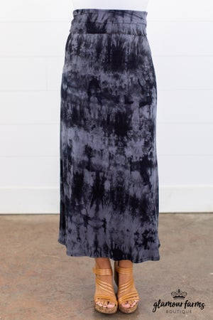 sku13789 | **Daily Deal** Tie Dyed Maxi Skirt