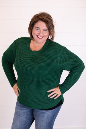 sku17862 | **Daily Deal** Waffle Knit Sweater