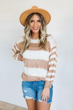 sku19365 | Striped Lightweight Sweater
