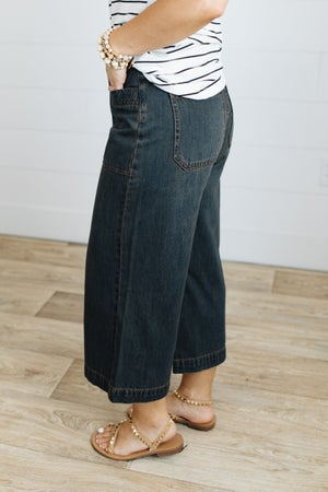 sku21095   Easel Washed Palazzo Jeans