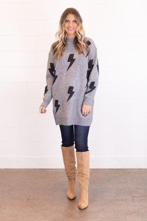 sku16748 | Lightning Bolt Sweater Dress