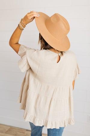 sku19335   Wide Brim Fedora Hat