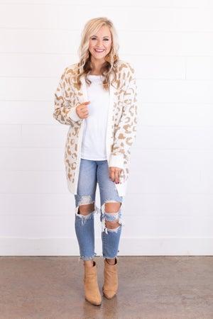 sku17492 | Animal Print Sweater Cardigan