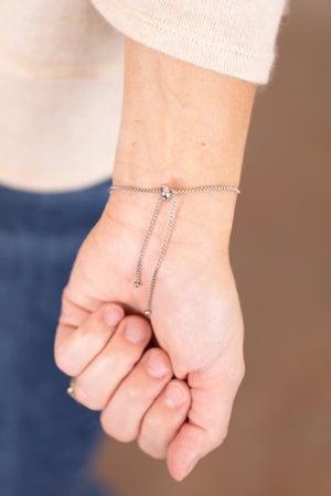 sku17355 | Pave Bar Pull Tie Bracelet