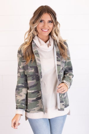 sku17608 | Camo Army Jacket