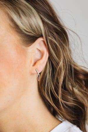 sku19019 | Bar Chain Linked Earrings