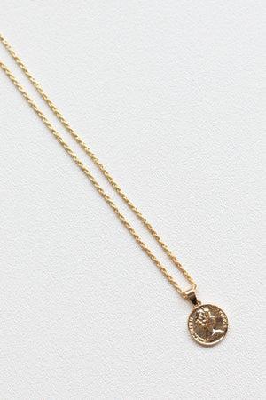 sku17312   Coin Pendant Necklace