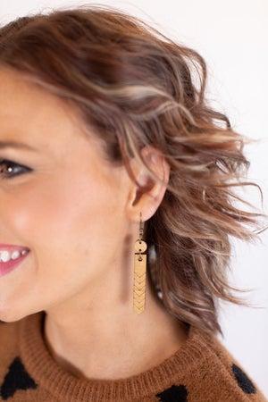 sku16816 | Wood Geometric Dangle Earrings