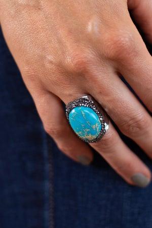 sku16071   Pave Oval Stone Ring