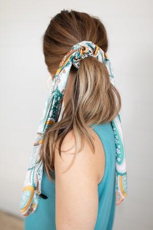 sku18612 | Paisley Dual Scrunchie Scarf