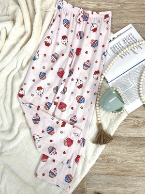 sku18727 | **Daily Deal** Cupcake Print Lounge Pants