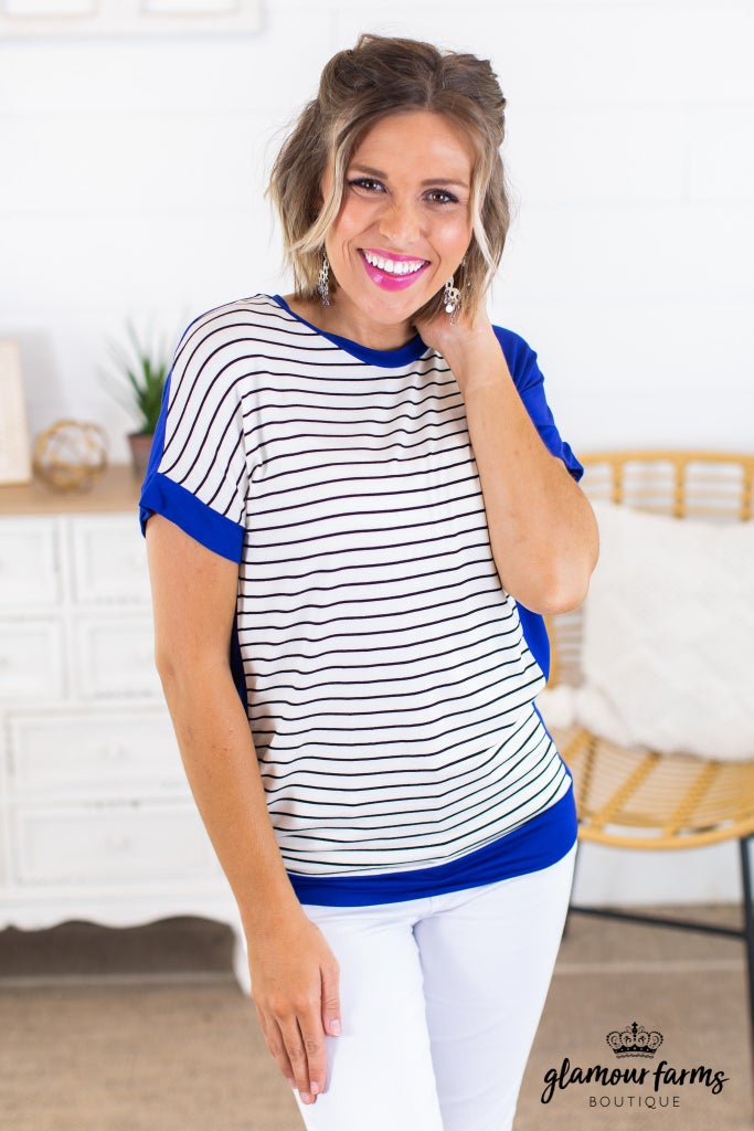 sku14559 | **Daily Deal** Striped Contrast Top