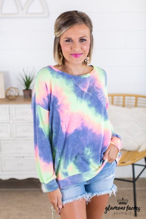 sku14846 | Tie Dyed Pullover