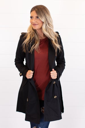 sku16008   Long Double Breasted Trench Coat