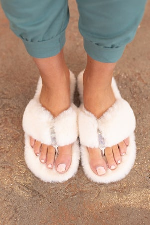 sku16428 | Furry Thong Slippers