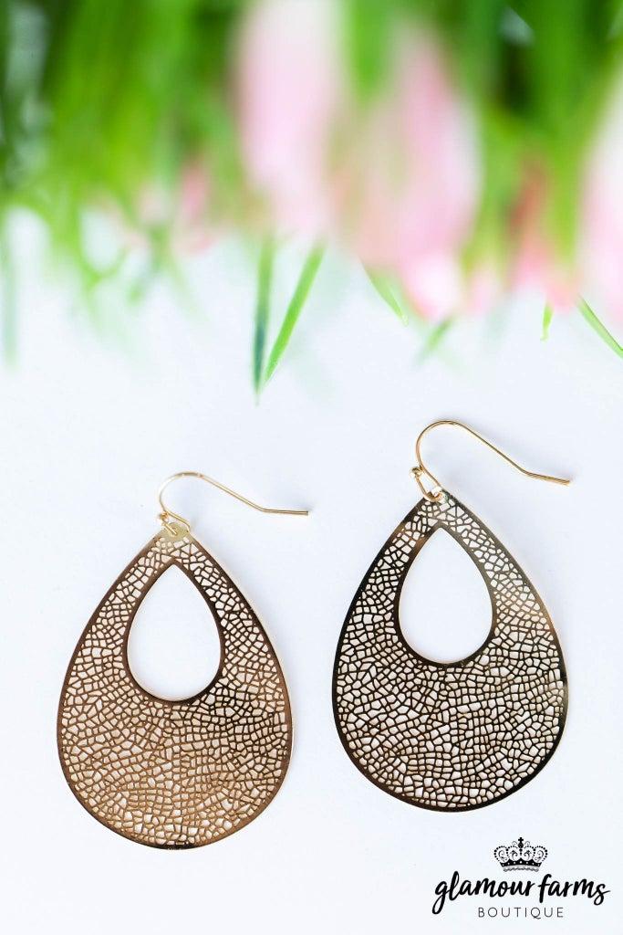 sku7870 | Filigree Teardrop Earrings