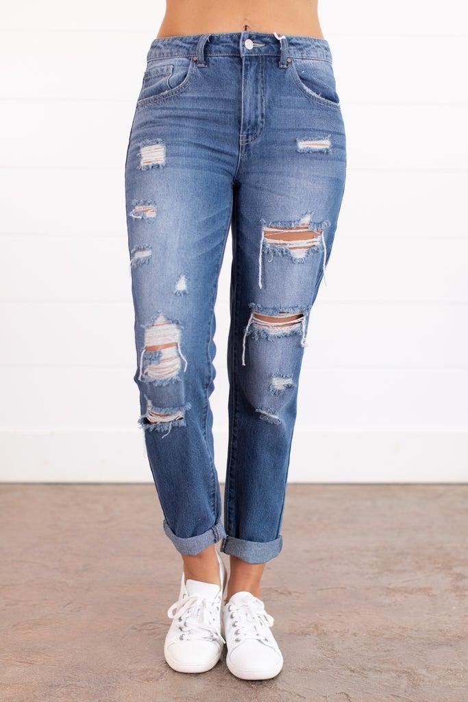 sku15911 | Destroyed Boyfriend Jeans