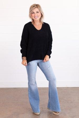 sku15408 | Open Knit V-Neck Sweater