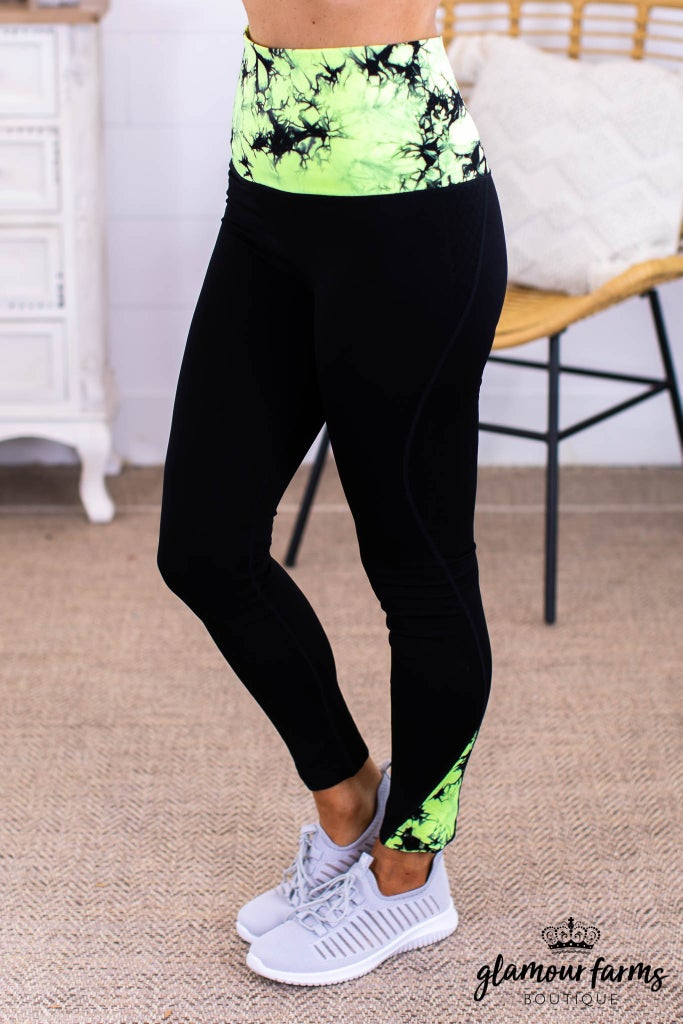 sku13813 | **Daily Deal** Tie Dyed Contrast Active Legging