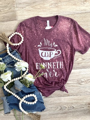sku19280 | My Cup Runneth Over Bleached Graphic Tee