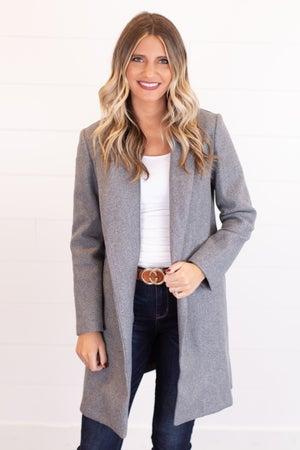 sku17552 | Fleece Open Front Coat