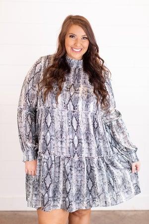 sku16265 | Animal Print Tiered Dress