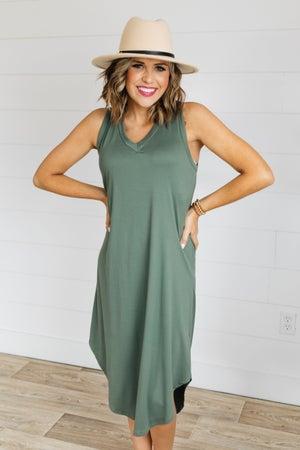 sku18238 | Tank Midi Dress