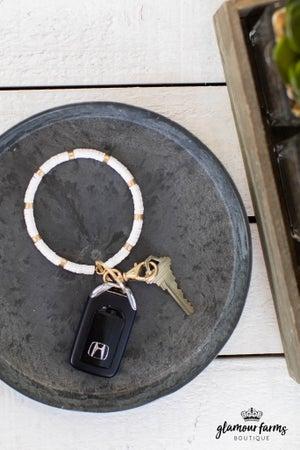 sku14188 | Beaded Bracelet Keychain