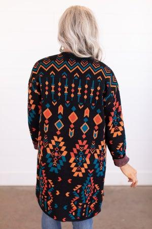 sku16906   Southwest Sweater Cardigan