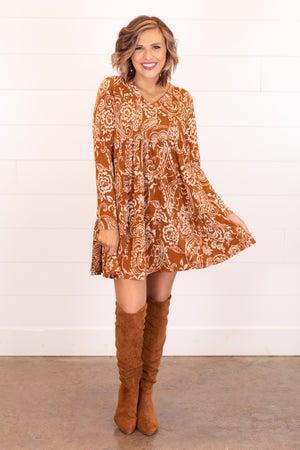 sku16724 | Paisley Tiered Dress