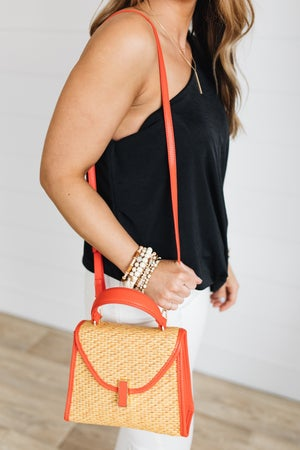 sku19805 | Woven Straw Crossbody Bag
