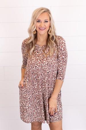 sku16719 | Animal Print Swing Dress