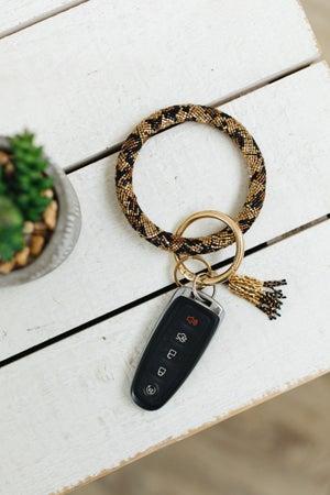 sku21316 | Glass Seed Bead Keyring Wristlet