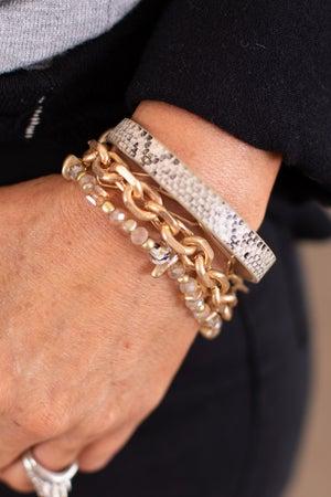 sku15779 | Chain And Stone Bracelet Set