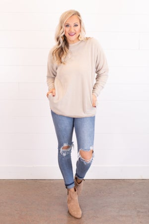sku17066 | Mineral Washed  Plush Pullover