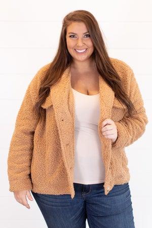 sku15887 | Sherpa Button Up Jacket