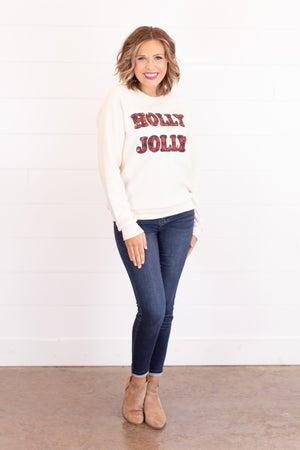 sku17615 | Holly Jolly Graphic Sweatshirt