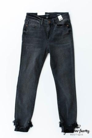 sku12779 | Destroyed Hem Skinny Jean