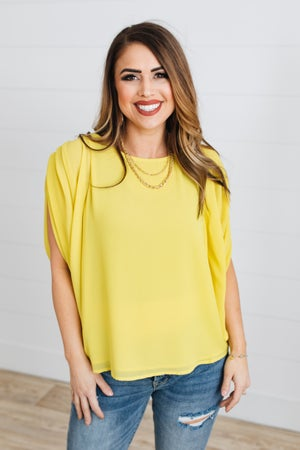 sku18357 | **Daily Deal** Pleated Shoulder Top