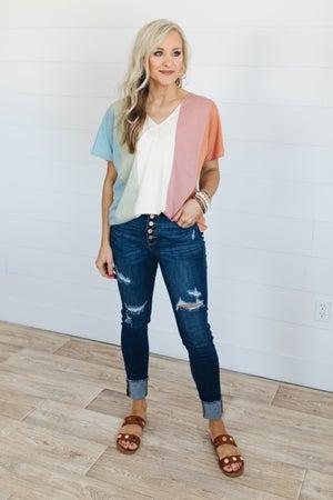 sku20743 | Judy Blue Distressed Cuffed Skinny Jeans