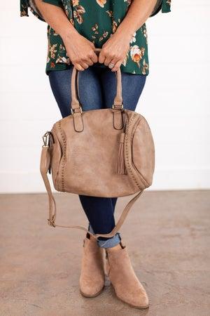 sku15832 | Studded Barrel Handbag