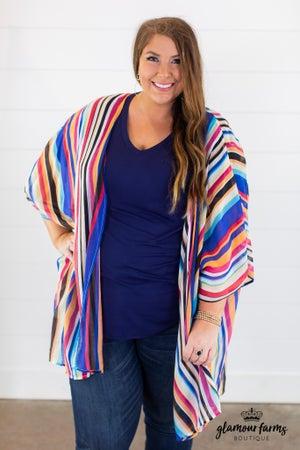 sku14968 | Striped Kimono